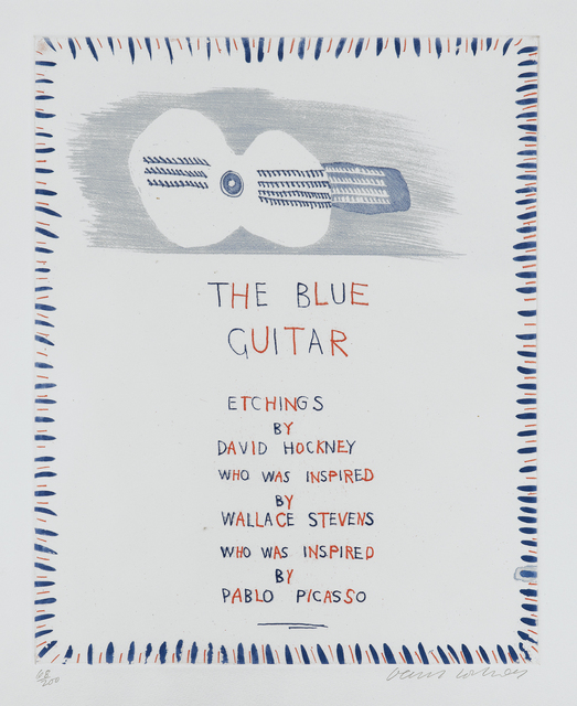 David Hockney, 'The Blue Guitar: title page', 1976-77, Phillips