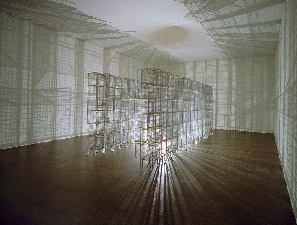 "Mona Hatoum, ""Light Sentence,"" 1992. Centre Pompidou (2015). © Centre Pompidou, Musée national d'art moderne, Paris. AM 2009-56"