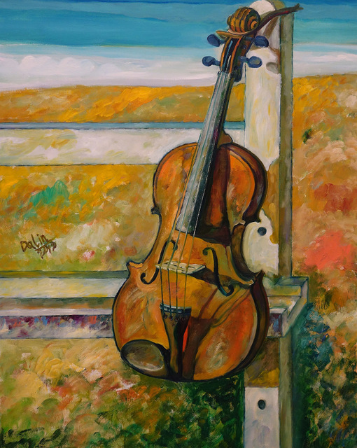 , 'A Viola & a Drawing Stand in Field,' 2012, Alisan Fine Arts