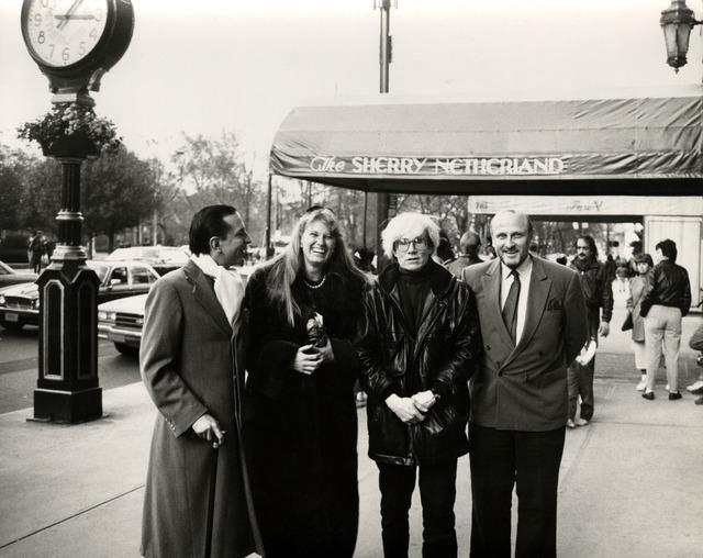 Andy Warhol, 'Fred Hughes, Yoyo Bischofberger, Andy Warhol & Bruno Bischofberger', ca. 1986, Hedges Projects