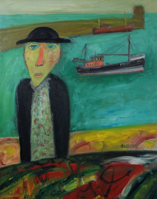 , 'Man with trawler,' , Castlegate House Gallery