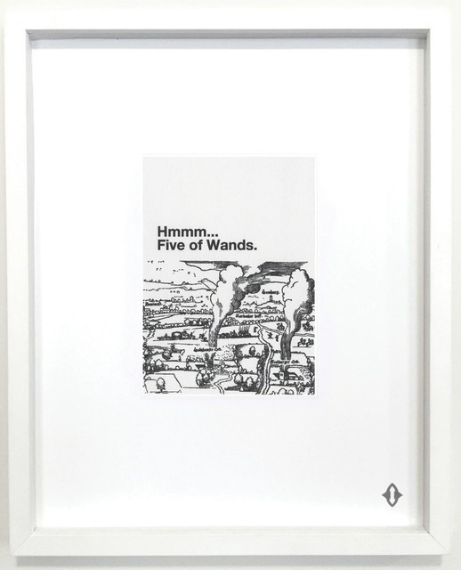 """Liam Gillick, 'FIVE OF WANDS, 2015 From the series """"Contemporary Magic: A Tarot Deck Art Project"""" Limited Edition 5th Anniversary Print Collection', 2015, ART CAPSUL"""