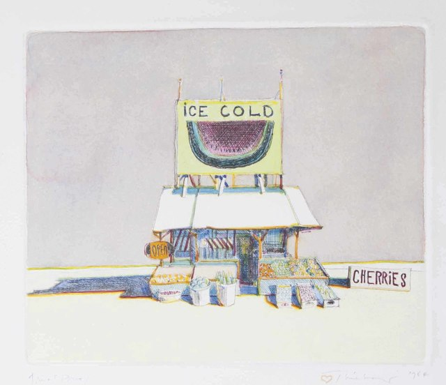 Wayne Thiebaud, 'Cherry Stand, from: Delights', 1964, Christie's