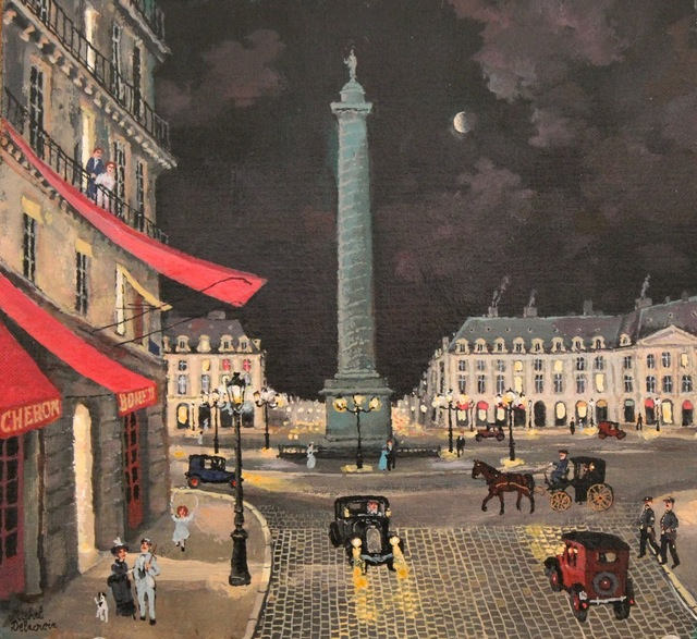 Michel Delacroix, 'La place Vendome', Painting, Acrylic on Board, Hugo Galerie