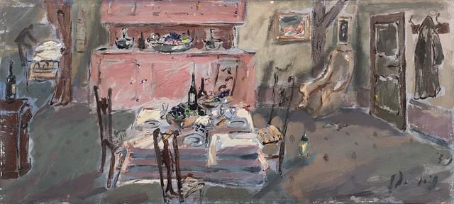 Filippo De Pisis, 'Interno con la tavola', Finarte