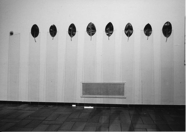 , 'Nine glass plates - Eight leaves - One stone,' 1977/ 2014, Yumiko Chiba Associates