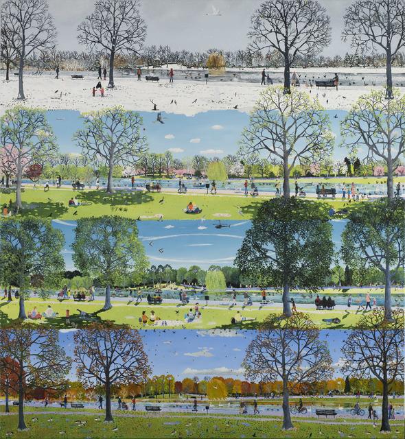 Emma Haworth, 'Park People', 2020, Painting, Oil on canvas, Rebecca Hossack Art Gallery