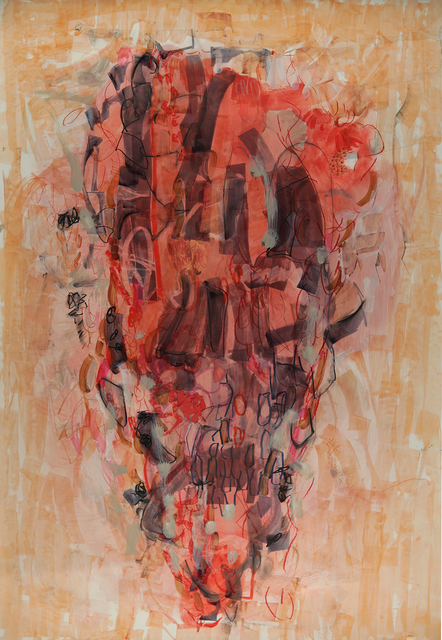 Terrell James, 'Lipstick Traces', 2019, Drawing, Collage or other Work on Paper, Mixed media on stone paper, Jason McCoy Gallery
