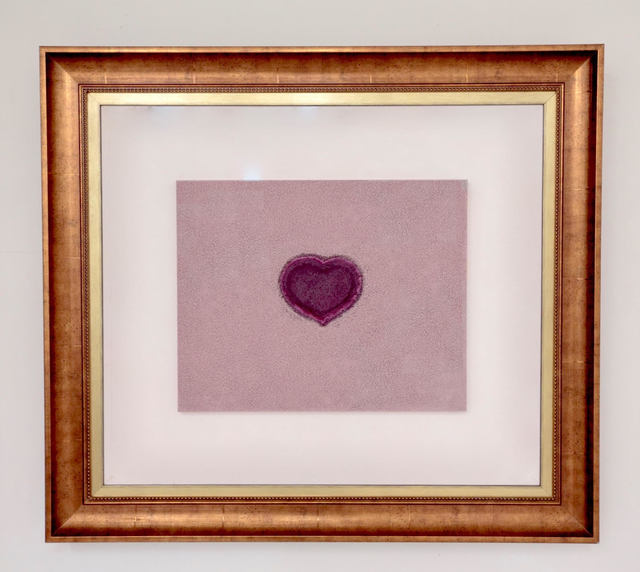 , 'LOVELY VIOLET HEART,' 2017, ABXY