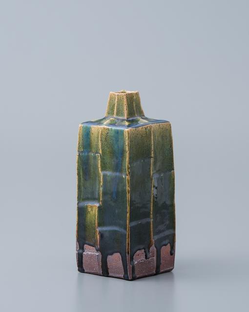 , 'Square vase, oribe glaze,' , Pucker Gallery