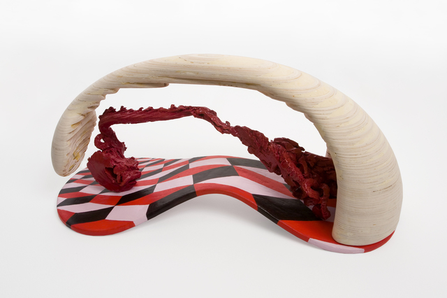 , 'Red and Wooden Span,' 2012, FRED.GIAMPIETRO Gallery