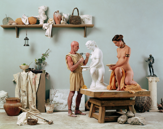 ", 'The Artist's Studio from ""The Last Days of Pompeii"" prototype,' 2002, Richard Saltoun"