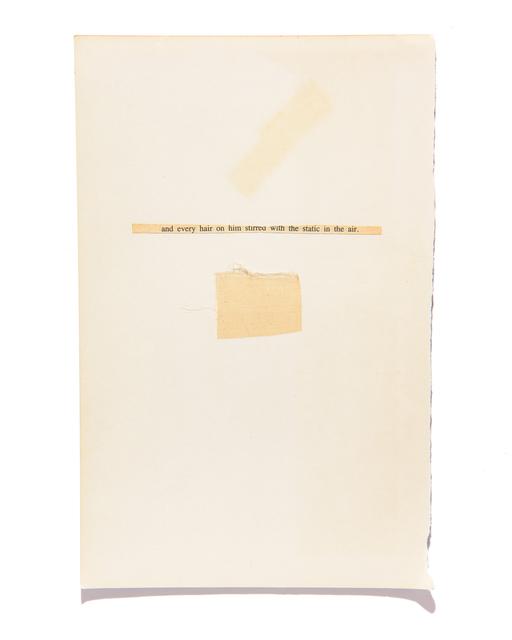 Ann Hamilton, 'Page 2', 2017, Gemini G.E.L.