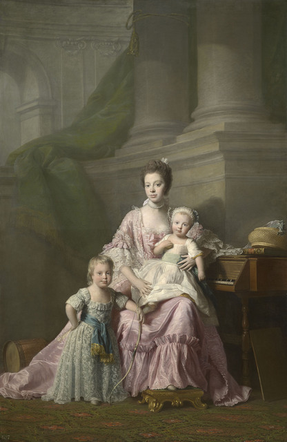 , 'Queen Charlotte (1744-1818) with her two Eldest Sons,' 1764-1769, Royal Collection Trust