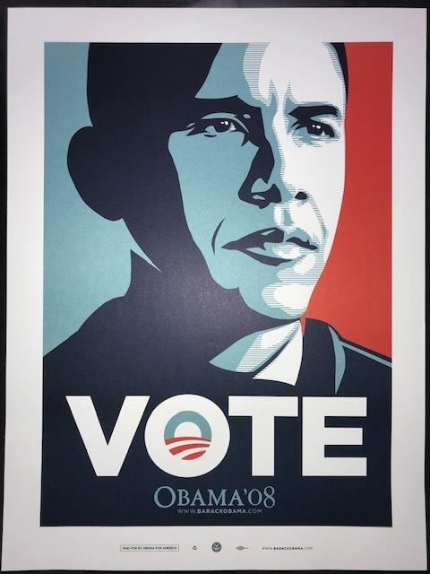 """Shepard Fairey, 'Obama """"Vote"""" ', 2008, Posters, Lithograph, New Union Gallery"""