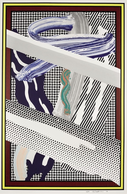 Roy Lichtenstein, 'Reflections on Expressionist Painting', 1990, Print, Screenprint in encaustic wax and magna on 638-g/m cold-pressed Saunders Waterford paper, Fine Art Mia