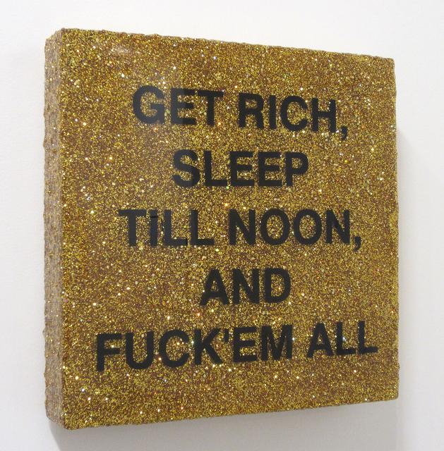 Andrea Stanislav, 'Sleep till Noon (Gold)', 2017, Bruno David Gallery