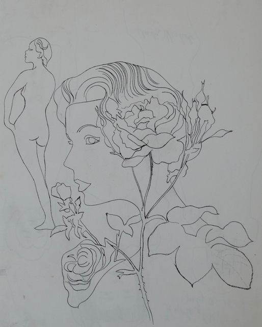 Andy Warhol, 'Untitled (Woman with Flowers)', ca. 1956, Long-Sharp Gallery