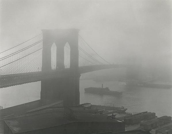 Andreas Feininger, 'Brooklyn Bridge in Fog', 1948; printed later, Scott Nichols Gallery