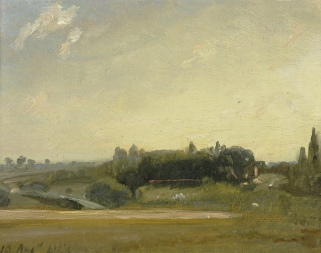 John Constable, 'View Towards the Rectory, East Bergholt', 1813, Yale Center for British Art