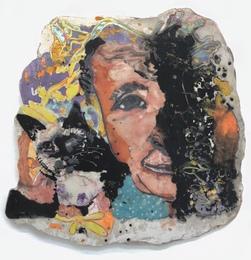 Georgia O'Keeffe with Siamese