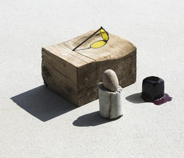 Ilán Rabchinskey, 'Wood, stone, concrete, chromatic filter, metal, gelatin #2', 2017, Patricia Conde Galería