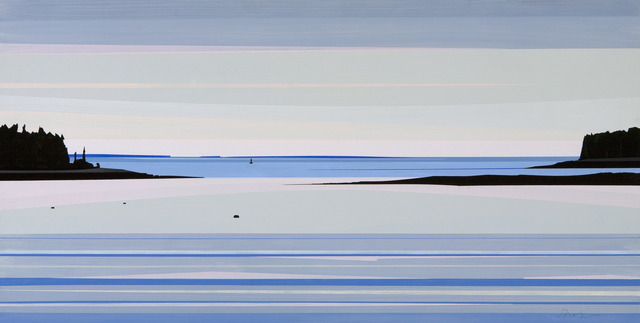 """, 'May 1, 2016, Looking Out the Window, Acrylic on panel, 12″ x 24"""",' , Dowling Walsh"""