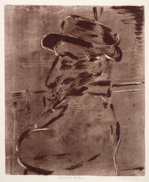 , 'Jankel Adler (from memory),' 1949, Ben Uri Gallery and Museum