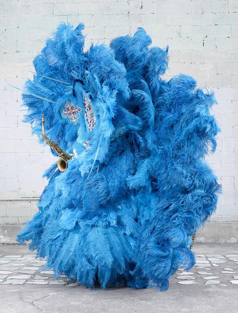 , 'Mardi Gras Indians (blue),' 2015, Yam Gallery