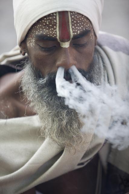 , 'Smoking Sadhu, Pashupatinath, Kathmandu, Nepal,' 2010, Octavia Art Gallery