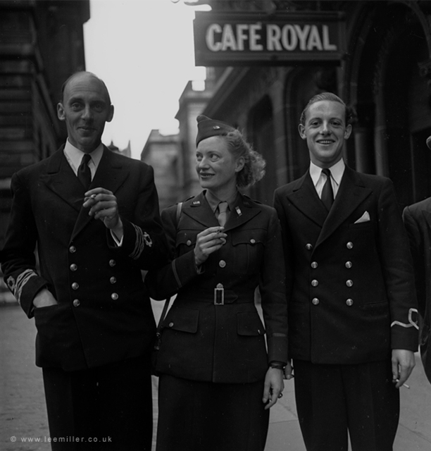, 'Lee Miller and naval officers , Edinburgh, Scotland, by David Sherman,' 1934, °CLAIR Galerie