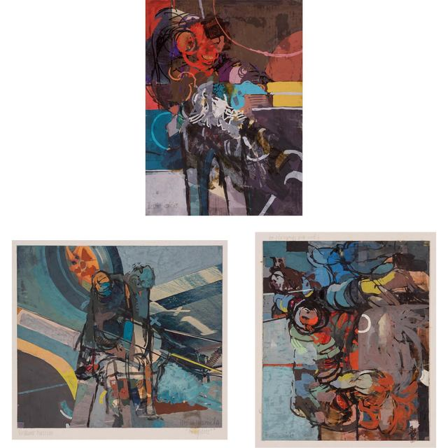 Ibrahim Hussein, '(i) Untitled (ii) Two Pilots (iii) Untitled', Doyle