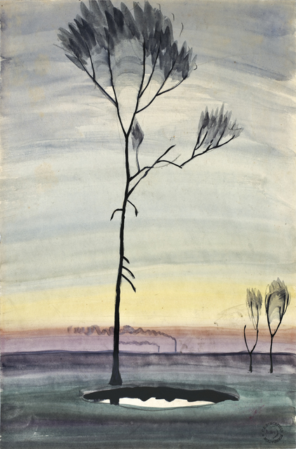 , 'Tree and Pond,' ca. 1920, DC Moore Gallery