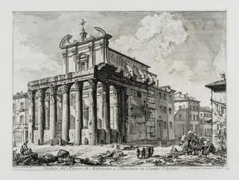 Veduta del Tempio di Antonino e Faustina in Campo Vaccino, from: Vedute di Roma