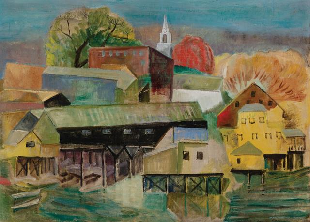 Marguerite Thompson Zorach, 'Boothbay Harbor, Maine', Doyle