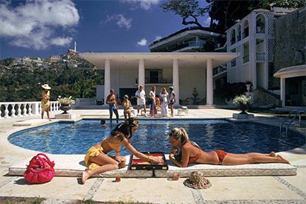 , 'Poolside Backgammon, 1972: Guests at Villa Nirvana in Las Brisas, Acapulco, Mexico,' 1972, Staley-Wise Gallery