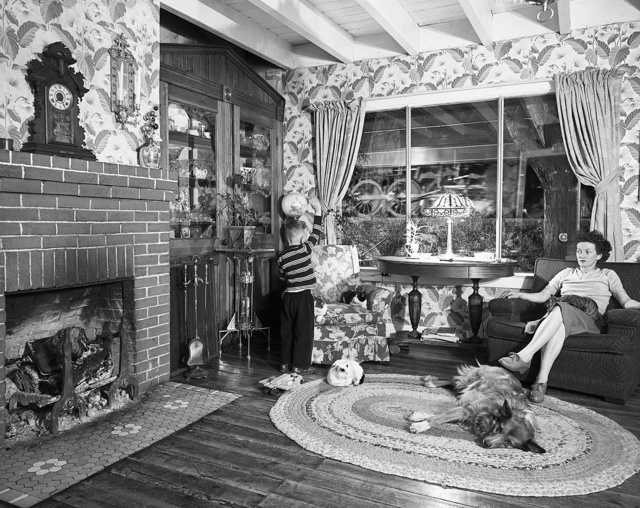 O. Winston Link, 'Hester Fringer's Living Room on the Tracks, Lithia, V.A.', 1955, Jackson Fine Art