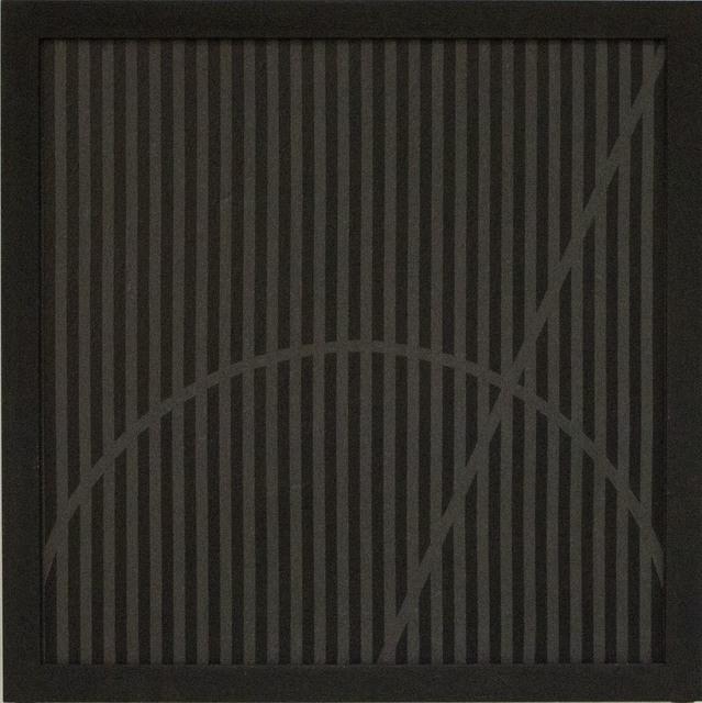 """, 'Grammature di non colore nero - supporto lavagna """"Diagonale in arco"""",' 1978, Primo Marella Gallery"""