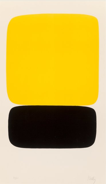 Ellsworth Kelly, 'Yellow over Black (Jaune sur noir), from Suite of Twenty-Seven Color Lithographs', 1964-1965, Heritage Auctions