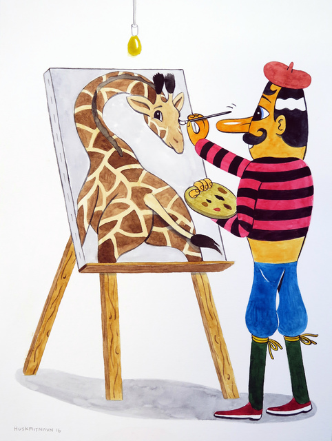 , 'A Giraffe in the Studio,' 2016, V1 Gallery