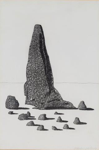 David Hockney, 'The Sexton Disguised as a Ghost Stood Still as Stone [Tokyo 87]', 1969, Roseberys