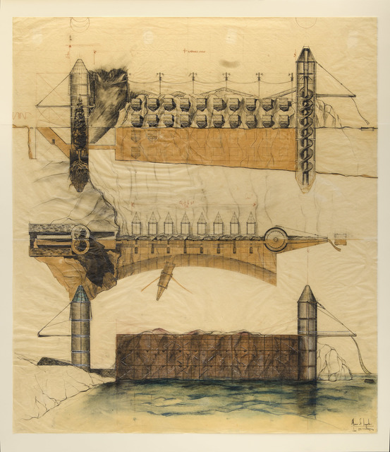 , 'Preliminary section and elevation of Museum of Impostors (A Portrait of Last Identity), Baltimore Harbor Water Gap, Maryland,' 1983, Edward Cella Art and Architecture