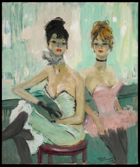 , 'Le Bar du Cancan,' 20th Century, Galerie de Souzy