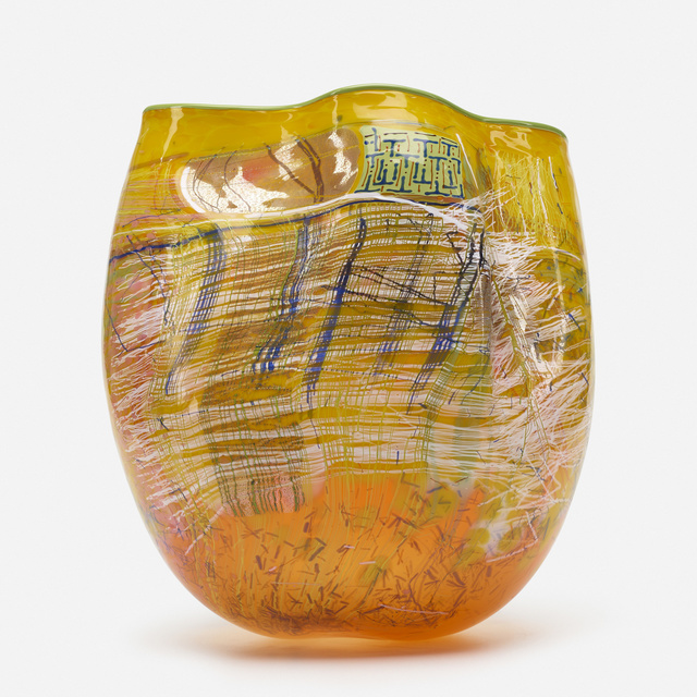 Dale Chihuly, 'Yellow Soft Cylinder with Green Lip Wrap', 1993, Wright