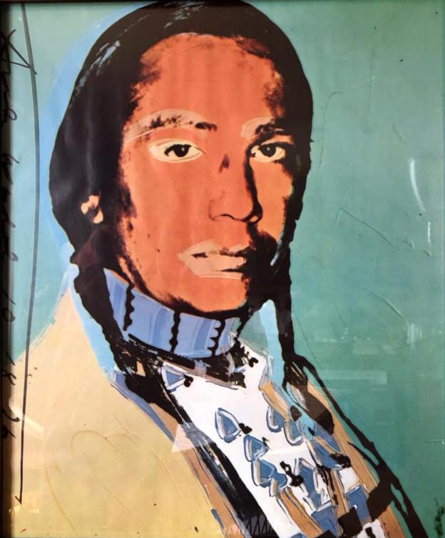 Andy Warhol The American Indian (Russell Means), 1976