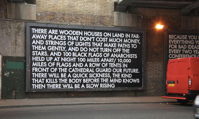 Robert Montgomery, 'Old Street Billboard 2 ', 2012, Mannerheim Gallery