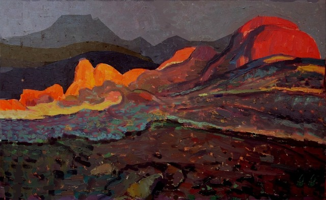 Yuman Zeng, 'The Red Rocks', 2013, Painting, Mixed Media, Wentworth Galleries