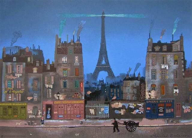 Michel Delacroix, 'Tour Eiffel le Soir', 1985, Print, Lithograph on Arches paper, Art Commerce