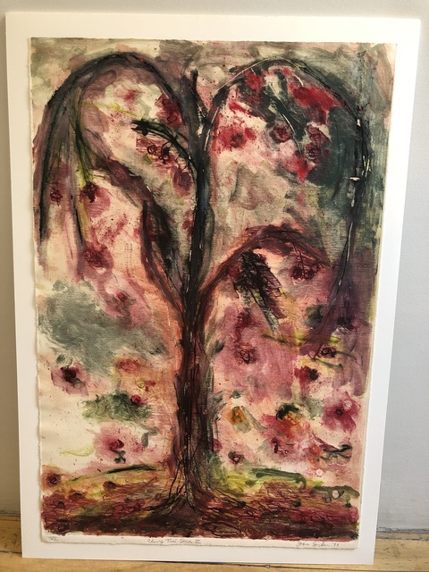 Joan Snyder, 'Cherry Tree Series II', 1999, Print, Monotype; woodcut hand-inked by the artist on Mulberry paper, Anders Wahlstedt Fine Art