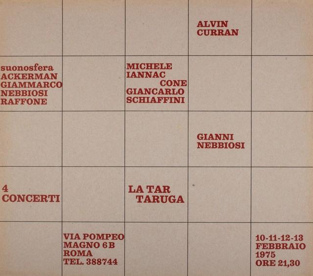 Various Artists, '4 concerti', 1975, Finarte
